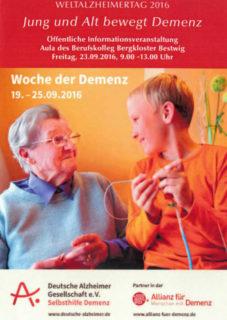 Einladung zum Welt-Alzheimer-Tag.